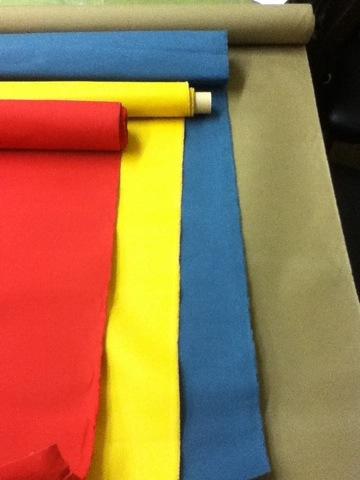 防水加工の帆布や8号帆布や、11号パラフィン加工帆布